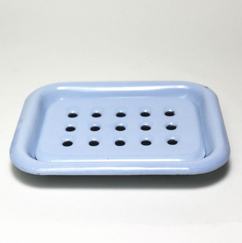 Emaille Seifenablage Blau, zum Stellen