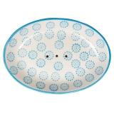 Seifenschale Blau-Creme oval