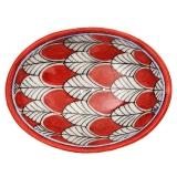 Seifenschale Rot oval