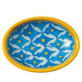 Seifenschale Blau-Gelb