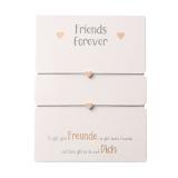 Freundschaftsarmband Herz rosévergoldet