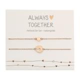 Armband - Always together - rosévergoldet