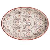 Seifenschale Lila-Rot oval